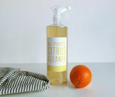 Easy-to-make, all-purpose, all-natural citrus cleaner. #Avery #Makr