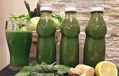 zöld turmix Cocktail Drinks, Cocktail Recipes, Healthy Drinks, Healthy Recipes, Health 2020, Vegas, Nutribullet, Cucumber, Cleanse