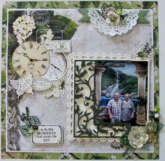 kaisercraft scrapbooking layouts using beach shack papers Scrapbook Layout Sketches, Scrapbooking Layouts, Vintage Scrapbook, Scrapbook Pages, Waterfall, Projects To Try, Gallery Wall, Frame, Crafts