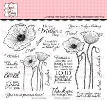 Precious Poppies Clear Stamp Set - Sweet n Sassy Stamps LLC