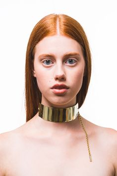 Queen Awy statement choker in brass - Langaeble Stockholm www.langaeble.com  Langaeble Stockholm statement jewellery in brass and sterling silver. Unique and awesome. #langaeble #statementjewelry #smycken #statement #jewellery #necklace #choker