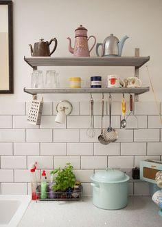 Lovely kitchen shelving.