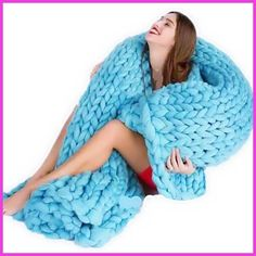 5 Colors Photo Taking Props Thick Line Knitted Blanket Blending Anti-Pilling Super Soft Used in Bed Sofa Plane Cobertor Blanket