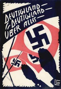 Propaganda WK II Deutschland Detschland über alles Künstler-Karte sign. LG I-II R!R!: Ansichtskarten-Center Onlineshop