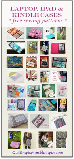 Quilt Inspiration: Free pattern day! iPad, Kindle, and iPhone cases and laptop bags - updated June 2016 with more free patterns