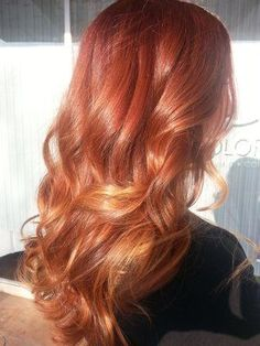 Red and Blonde Balayage | Red Balayage | Hair | Pinterest