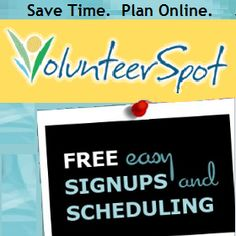 Free online sign up sheets from VolunteerSpot making organizing parents and volunteers a cinch! 24/7 mobile access and automated reminders rock!