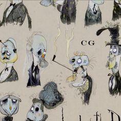 'Corpse bride' Concept art - By Carlos Grangel Arte Zombie, Zombie Art, Character Design Animation, Character Design References, Arte Disney, Disney Art, Corpse Bride Characters, Tim Burton Corpse Bride, Laika Studios