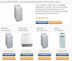Vergleichstabelle unserer Testsieger – Waschmaschine Toplader › Waschtrockner Toplader