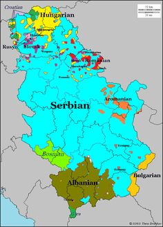 Languages of Serbia and Kosovo.