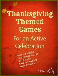 Thanksgiving Themed Games  - #family #activities #tradition