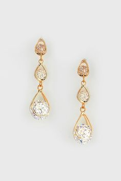 love these tiered drop earrings