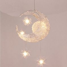 Nilight® Creative Moon and Stars Children Bedroom Living Room Ceiling Light Pendant Hanging Lamp Chandelier Nilight http://www.amazon.co.uk/dp/B00NPY8J56/ref=cm_sw_r_pi_dp_WRhbvb05N2VS3