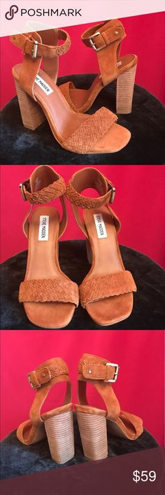 Heels Honey brown heels Steven by Steve Madden Shoes Sandals