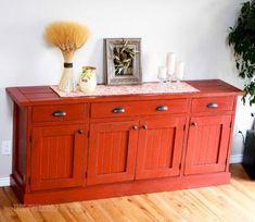 DIY Furniture : DIY Planked Wood Sideboard
