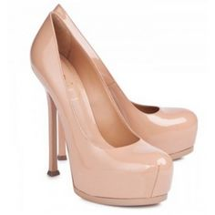 $194  Yves Saint Laurent Tribtoo patent leather pumps