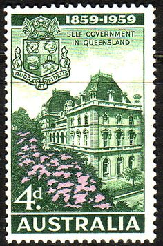 Australia 1959 SG 332 Self-Government in Queensland Fine Mint SG 332 Scott 333 Other Australian Stamps here