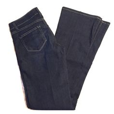 Paige Skyline Boot Jeans Dark wash, low rise, wide boot/flare cut, size 26. Brilliant condition. Paige Jeans Pants Boot Cut & Flare