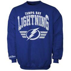 Mitchell   Ness Tampa Bay Lightning Stadium Crew Sweatshirt - Royal Blue daf1fbf19081