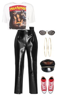 """""""Untitled #1656"""" by streetyouth ❤ liked on Polyvore featuring Philosophy di Lorenzo Serafini, Boohoo, Converse, Harley-Davidson, Jennifer Meyer Jewelry and Jean-Paul Gaultier"""