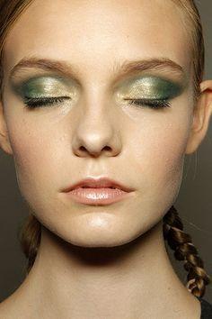 Summer Makeup Trends - love the green metallic