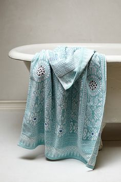 Marigold Towel Collection in mint  #anthropologie