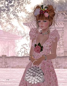 Spiderweb Second Life: Essences + GizzA + WTG - composition in pink :o}