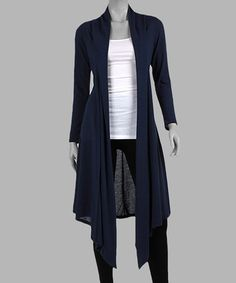 Look what I found on #zulily! Navy Open Duster by California Trading Group #zulilyfinds
