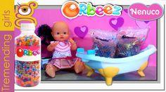 Bañamos a nuestro bebé Nenuco con Orbeez en la Bañera Nenuco - juguetes...