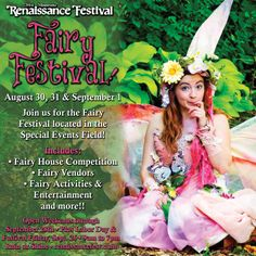 Prepare your wings and fairy dust for the 2014 Fairy Festival at the Minnesota Renaissance Festival! August 30, 31 & September 1st!