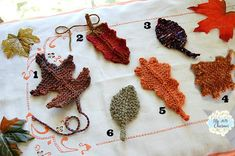 AUTUMN LEAVES...    I've been busy knitted away some Autumn Leaves. I have always loved doing any kind of needlework.  Some of my fondest memories with my