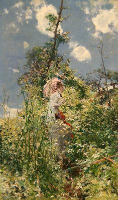 Giovanni Boldini's Woman With A Parasol 1872