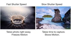 Inspiration: This website explains the different effects created by using Fast and Slow Shutter speeds.