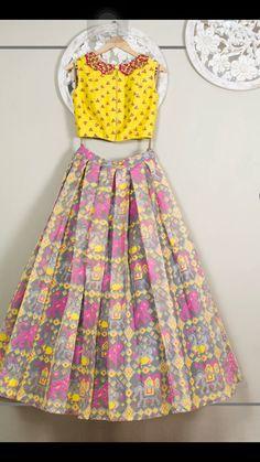 Girl Fashion, Fashion Dresses, Womens Fashion, Half Saree Designs, Kids Frocks Design, Frock Design, Indian Dresses, Designer Collection, Indian Wear
