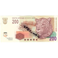 T T MBOWENI TWO HUNDRED RAND SOUTH AFRICAN BANK NOTE 2nd ISSUE AA SERIES African, Notes, Report Cards, Notebook