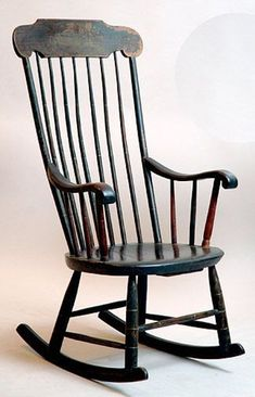 Obsessed with this exact style of antique Boston/Shaker style stenciled black rockers Rocking Chair Makeover, Shaker Style, Antique Furniture, Rocking Chairs, Rockers, Antiques, Geo, Boston, Memories