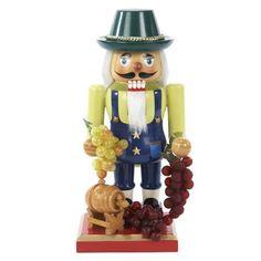 Kurt-Adler-Wooden-Winemaker-Nutcracker-10-25-Inch-Decor-New-Free-Shipping