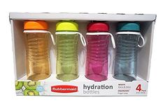 Rubbermaid Refill Reuse 20Ounce Hydration Chug Bottle 4 pack  ** See this great product.Note:It is affiliate link to Amazon.