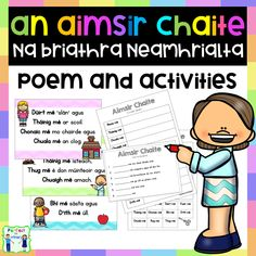 An Aimsir Chaite - past tense irregular verbs - poem and activities!
