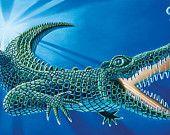 """Alligator 11x20"""", 17x30"""" www.zahares.com"""