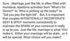 Your marriage will either be stale or special...the choice is yours!  That's it for Marriage Mondays! Let me know which post helped you the most!  #Marriagemondays  #ibelieveinmarriage  #Robinmayonline