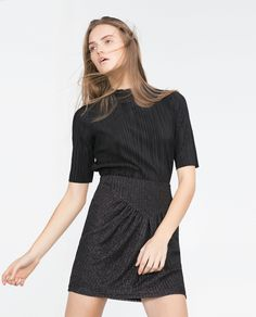 MINI SKIRT WITH SHIMMER THREAD - View all - Skirts - WOMAN | ZARA United States