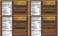 You want to try all our organic products? Then this combo is for you. ORGANIC BEEF JERKY SLAB STYLE COMBO 3 OZ. BAGS 24CT. Beef raised on organic feed. Cattle are never fed animal by-products. No artificial ingredients, No preservatives, No nitrite, No erythorbate,No added MSG (monosodium glutamate), Organic beef raised w/out added hormones & w/out added antibiotics. ----> http://huberclan07.jerkydirect.com/?page=prod&ID=71&pageaction=3&prodcat=1