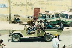 An improvised fighting vehicle in Mogadishu, 1992 or 1993