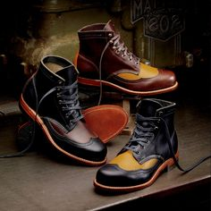 Wolverine Addison Two-Tone Wing-Tip Boot