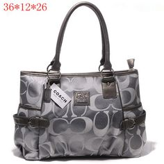 Coach Madison Signature Medium Tote Grey [Coach-0740] - $55.43 : Coach Outlet Canada Online