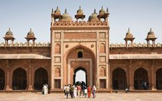 #02 Fatehpur Sikri  The Mughal emporer Akbar's elegant palace complex now lies deserted on a ridge near Agra, but remains one of India's architectural masterpieces.