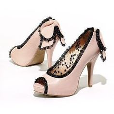 Princess Vera Wang Peep-Toe Platform High Heels