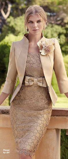 Suited style: Carla Ruiz 2014 | LBV ♥✤ | BeStayBeautiful. Mother of the bride would look stunning in this