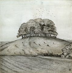 Th Wood on the Hill, Paul Nash, 1912. Ashmolean Museum.